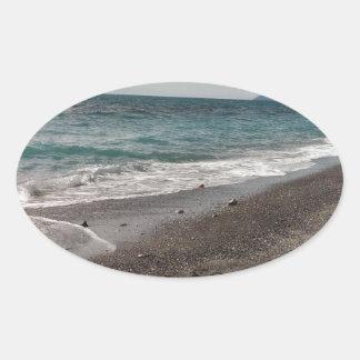 Ligurian Sea Oval Sticker