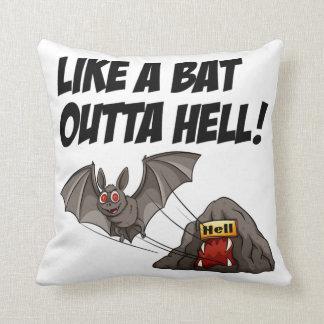 Like A Bat Outta Hell Throw Pillow