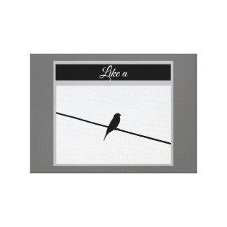 Like a Bird on A Wire - Leonard Cohen Canvas Print
