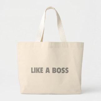 Like A Boss Canvas Bag
