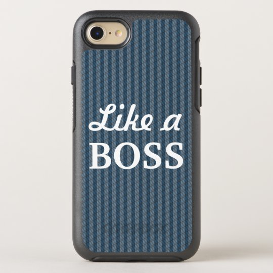 Like a Boss Blue OtterBox Symmetry iPhone 7 Case