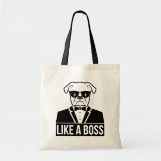 Like a Boss Bulldog Tote Bag