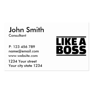 Like a boss business card