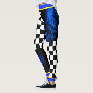 Like a Boss - Checkers & Dot Pattern (on YOUR Col) Leggings