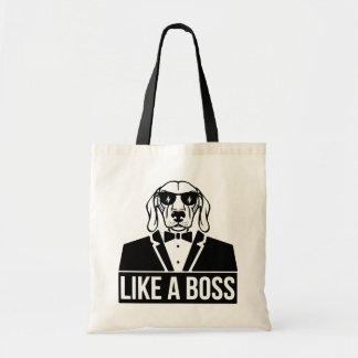 Like a Boss Dachshund Tote Bag