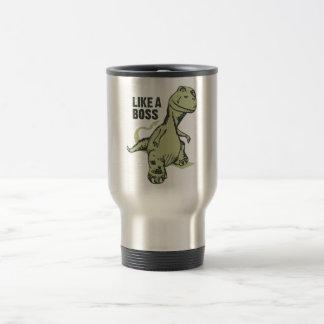 Like a Boss Dinosaur 15 Oz Stainless Steel Travel Mug