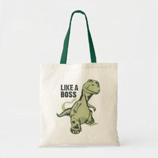 Like a Boss Dinosaur Budget Tote Bag