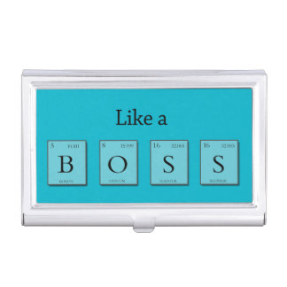 Like A BOSS Periodic Elements Business Card Holder