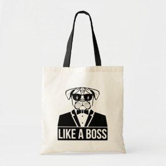 Like a Boss Pug Dog Tote Bag