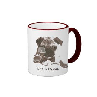 Like a Boss Pug & Fine Wine Coffee Mug