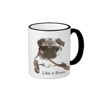 Like a Boss Pug Mug