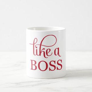 Like a Boss Red Basic White Mug