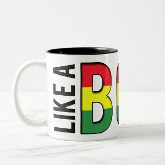 LIKE a BOSS reggae colors Two-Tone Coffee Mug