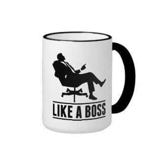 Like A Boss Ringer Mug