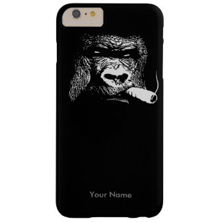Like a Boss Smoking Gorilla Custom Name Barely There iPhone 6 Plus Case