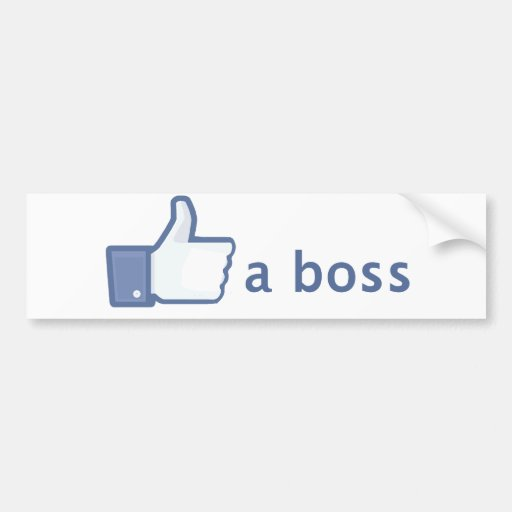 Like A Boss sticker Bumper Sticker