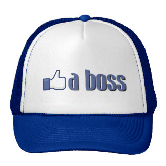 Like a boss thumb trucker hats