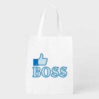 Like a boss reusable grocery bags