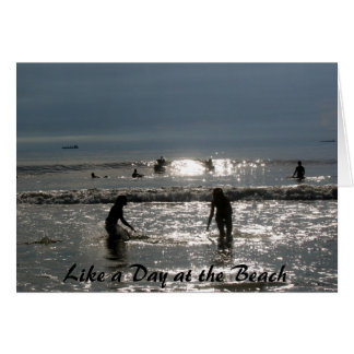 Like a Day at the Beach Card