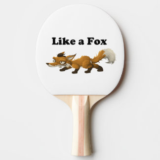 Like a Fox Funny Cartoon Joke Pun Ping Pong Paddle