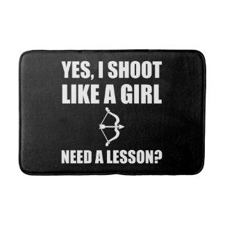 Like A Girl Archery Bathroom Mat