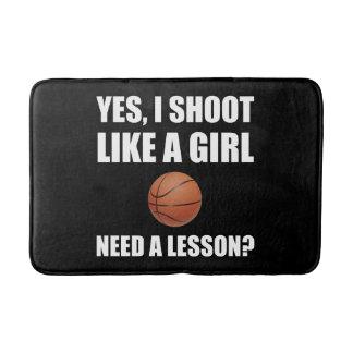 Like A Girl Basketball Bath Mat