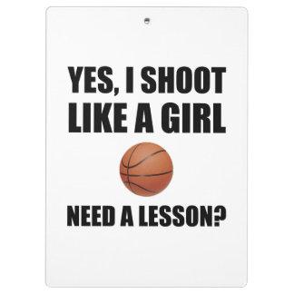 Like A Girl Basketball Clipboards
