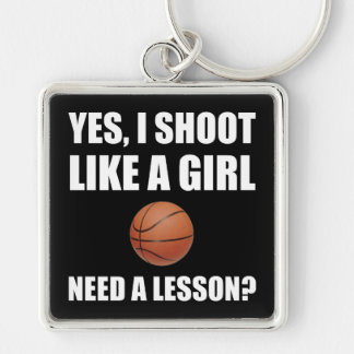 Like A Girl Basketball Keychain