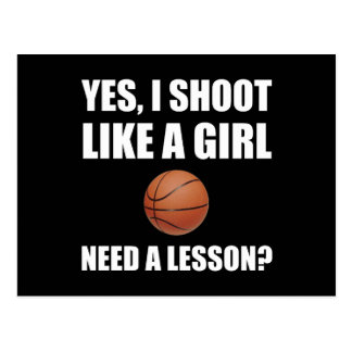Like A Girl Basketball Postcard