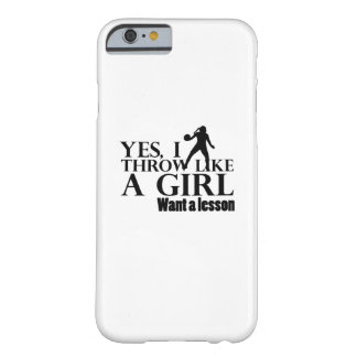 Like A Girl Funny Baseball Softball Gift Barely There iPhone 6 Case