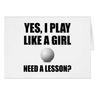 Like A Girl Golf Card