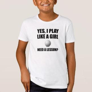 Like A Girl Golf T-Shirt