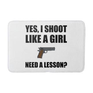 Like A Girl Gun Shoot Bathroom Mat