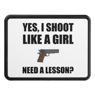 Like A Girl Gun Shoot Trailer Hitch Cover