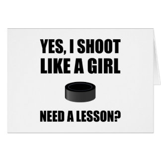 Like A Girl Hockey Card