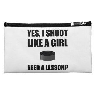 Like A Girl Hockey Cosmetic Bags