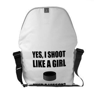 Like A Girl Hockey Courier Bag