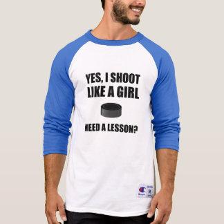 Like A Girl Hockey T-Shirt