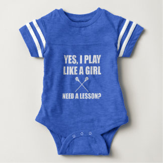 Like A Girl Lacrosse Baby Bodysuit