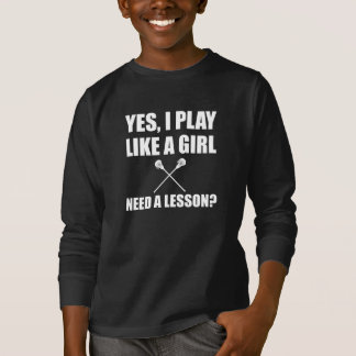 Like A Girl Lacrosse T-Shirt