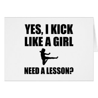 Like A Girl Martial Arts Card