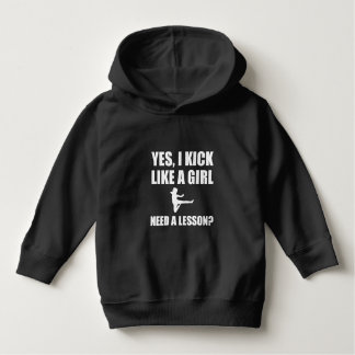 Like A Girl Martial Arts Hoodie