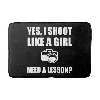 Like A Girl Photography Shoot Bath Mat