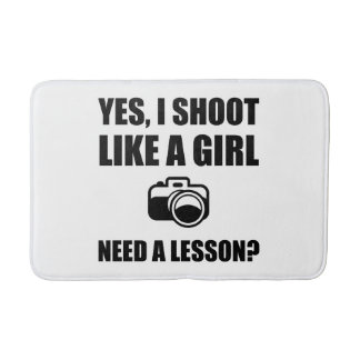 Like A Girl Photography Shoot Bath Mat