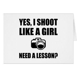 Like A Girl Photography Shoot Card