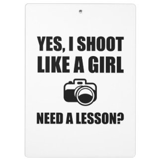Like A Girl Photography Shoot Clipboard