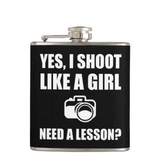 Like A Girl Photography Shoot Hip Flask