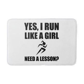 Like A Girl Running Bath Mat