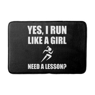 Like A Girl Running Bathroom Mat