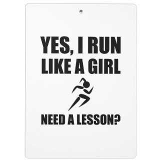 Like A Girl Running Clipboard